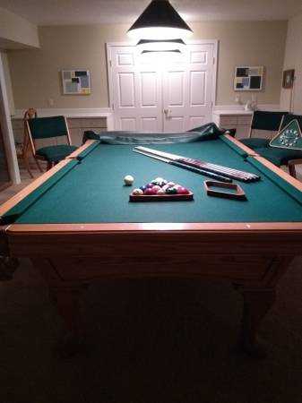 Solo 174 Placerville 9 Amf Playmaster Chantilly Oak Pool Table 33
