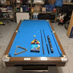 "9"" Dimond Pool Table"