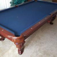 8 Foot Solid Oak Pool Table