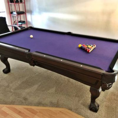Billiards Pool Table Purple Felt All Accessories Included