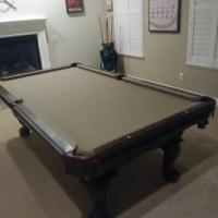 American Heritage Standard 8 foot Pool Table and Accessories