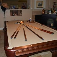 Olhausen Pool Table With 4 Piece Italian Slate