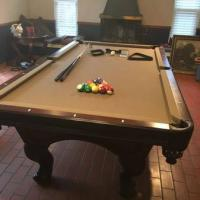 Pool Table Taupe Felt Great Condition