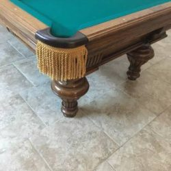 Beautiful Walnut Custom Pool Table