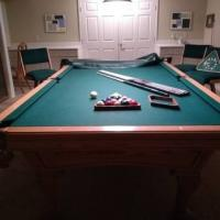 9' AMF Playmaster Chantilly Oak Pool Table