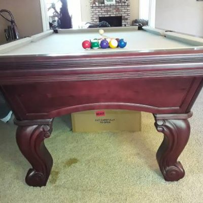 Gorgeous Cherry Pool Table