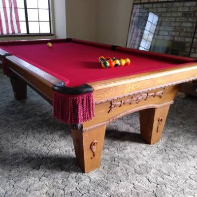 Custom Delmo Billiards 8' Pool Table