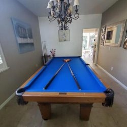 *** Oldhausen Pool table for sale- beautiful blue felt - Great condition $500 OBO